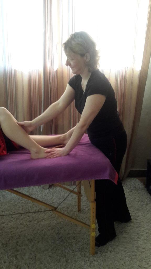 réflexologie jambe